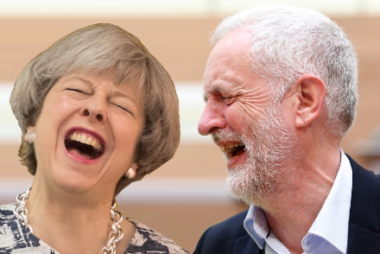 Brexit bedfellows sharing a laugh about their spinning of the local election results